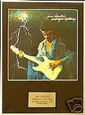 JIMI HENDRIX  - Midnight lightning -  Framed LP Cover
